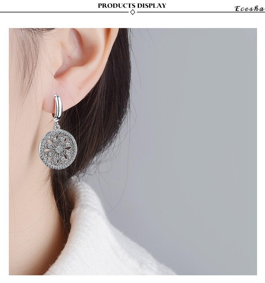 1c14fc3e217c Larga étnica cuelga los pendientes creado Aquamarine piedra hecho a mano  declaración pendiente para las mujeres 925 joyería de plata gotas