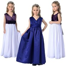 2016 Girls Christening Wedding Party Pageant Formal Dress Baby First Communion Dresses Ball Gowns Child Bridesmaid Long Dress