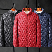 b Autumn and winter mens collar light thin coat jacket men plus size 6XL 7XL 8XL 9XL 10XL down cotton