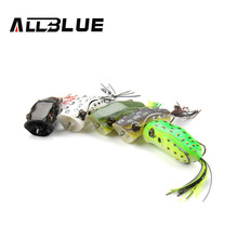 ALLBLUE High Quality Popper  Frog Lure 60mm/14g Snakehead Lure Topwater Simulation Frog Fishing Lure Soft Bass Bait