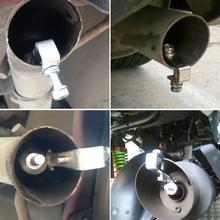 Автомобильный турбо звуковой свисток выхлопной трубы поддельные выдув клапан-симулятор выхлопной наконечник ponteira escapamento echappement voiture