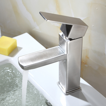 Yooap High Quality Bathroom Faucet Sink Single Handle Square