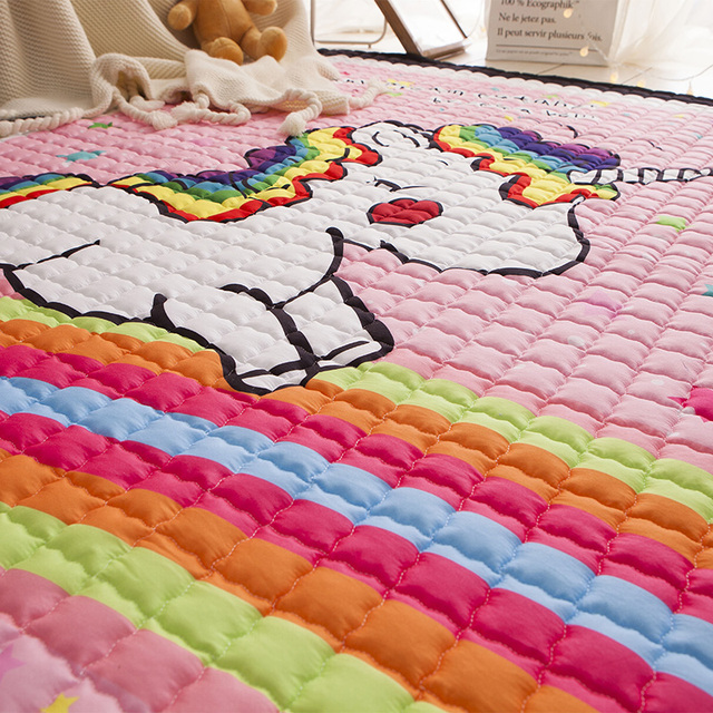 Unicorn Quilted Area Thick Carpet