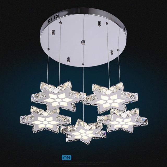 Vidrio creativo estrellas forma 45 W Lámparas colgantes cristal ...