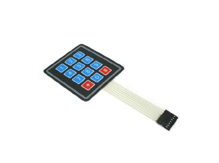10pcs New 3x4 12 Key Matrix Membrane Switch Keypad Keyboard Super Slim