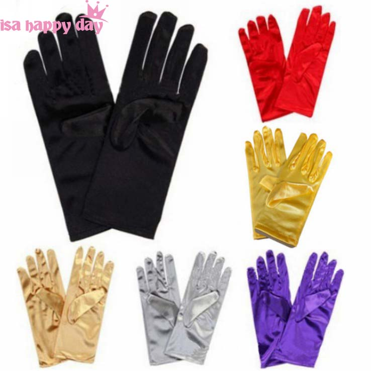 Multi Color Short Wrist Elegant White Ivory Red Black Bridal Gloves Wedding Gloves For Bride Gloves Fingers Wedding Accessories