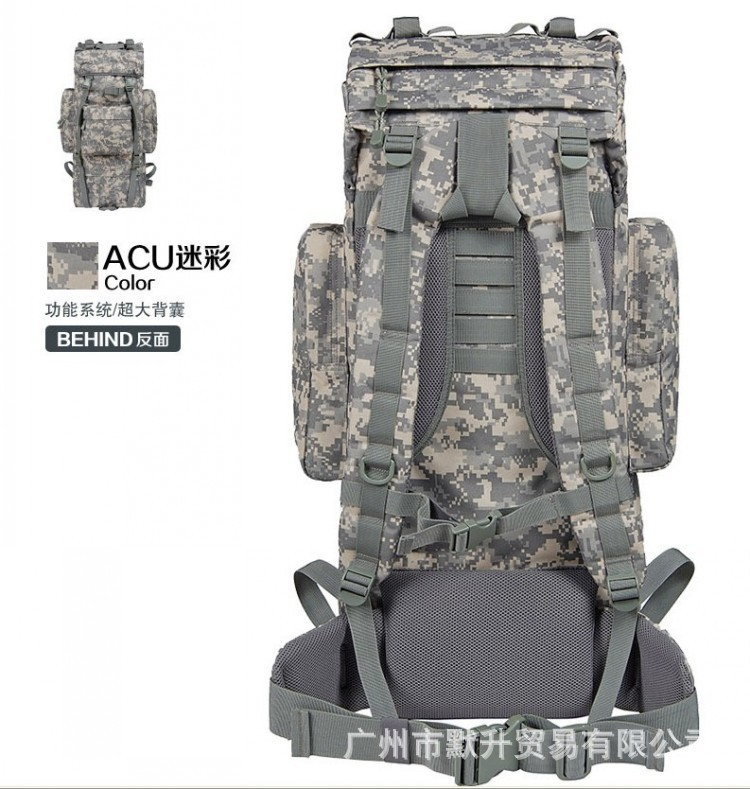 ФОТО outdoor military tactical backpack Large outdoor mountaineering bags 65L Backpack tactical camouflage backpack field bag
