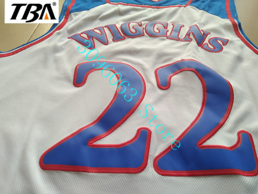 407eef2486d3 ... Stitched Jerseys Blue NEW 22 College Basketball Authentic Jersey 2017  Kansas Jayhawks Andrew Wiggins White Size S