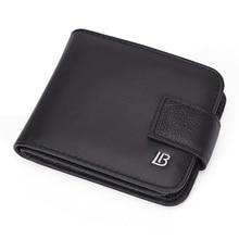 BOSTANTEN Genuine leather Black vintage wallet men with coin