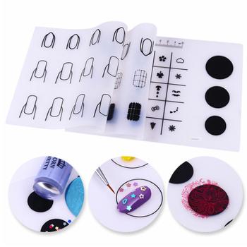 1 pc silikonowy stempel do paznokci mata lakier do paznokci polski transferu wzór pad kolor wypełnienia szablony do manicure tłoczenia wzornik tanie i dobre opinie Template Tłoczenie nail mat silicone 20x 15 cm