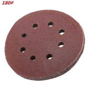 Image 5 - 60 Pieces 8 Holes 5 Inch Sanding Discs Hook and Loop 60/100/180/240/320/400 Grit Sandpaper Assortment for Random Orbital Sander
