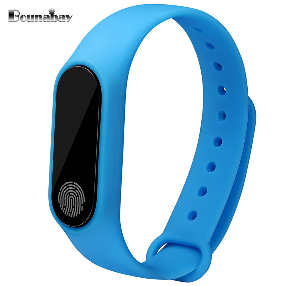 BOUNABAY Heart Rate Bluetooth Smart women watch woman watches for apple android phone waterproof Pedometer Clock Touch Clocks