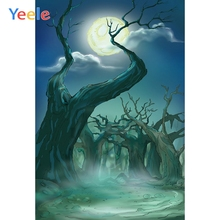 Yeele Halloween Photocall Night Moon Dead Forest Photography Backdrops Personalized Photographic Backgrounds For Photo Studio