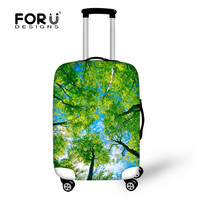 FORUDESIGNS Travel Suitcase Protective Cover Luggage Accessories for 18-28 inch Trolley Case Durable Anti-dust Luggage Covers