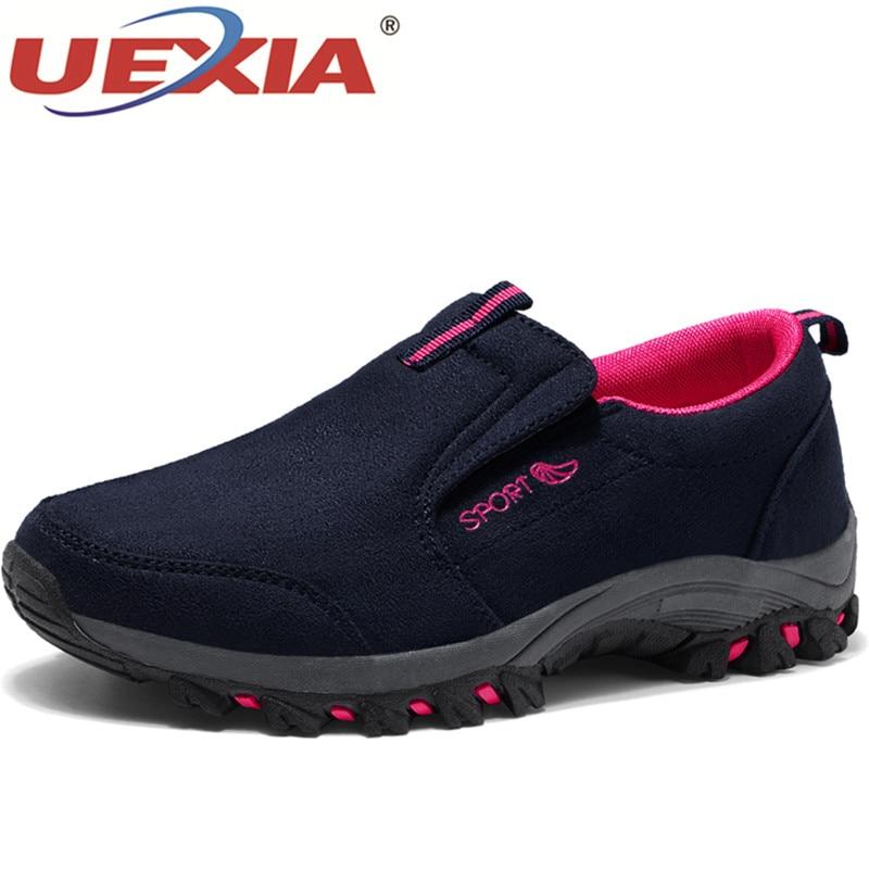 2701ffa1c5a Goede Koop UEXIA Vrouwen Casual Schoenen Merk Schoenen Vrouwen Sneakers  Flats Mesh Slip Op Loafers Ademende Lente Ademend Goedkoop.