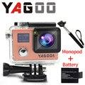 """Camera acao YAGOO6 ultra 1080 P/30fps Wi-fi 2.0 """"Dual LCD Controle Remoto pro camera esporte Capacete Cam ir a prova d agua"""