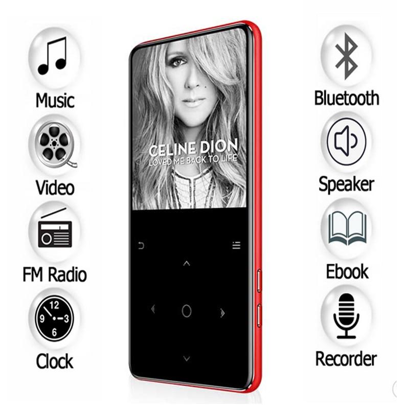 Tragbares Audio & Video Mp3-player Hlton 8 Gb Metall Bluetooth Mp3 Player 2,4 Zoll Touch Screen E-buch Video Fm Radio Wecker Dünne Verlustfreie Musik Player Walkman