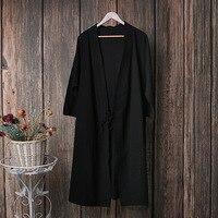 Vestidos Robe Femme Black Dress Befree Clothes Women Linen Dress Japanese Kimono Robe Ete Femme Blue