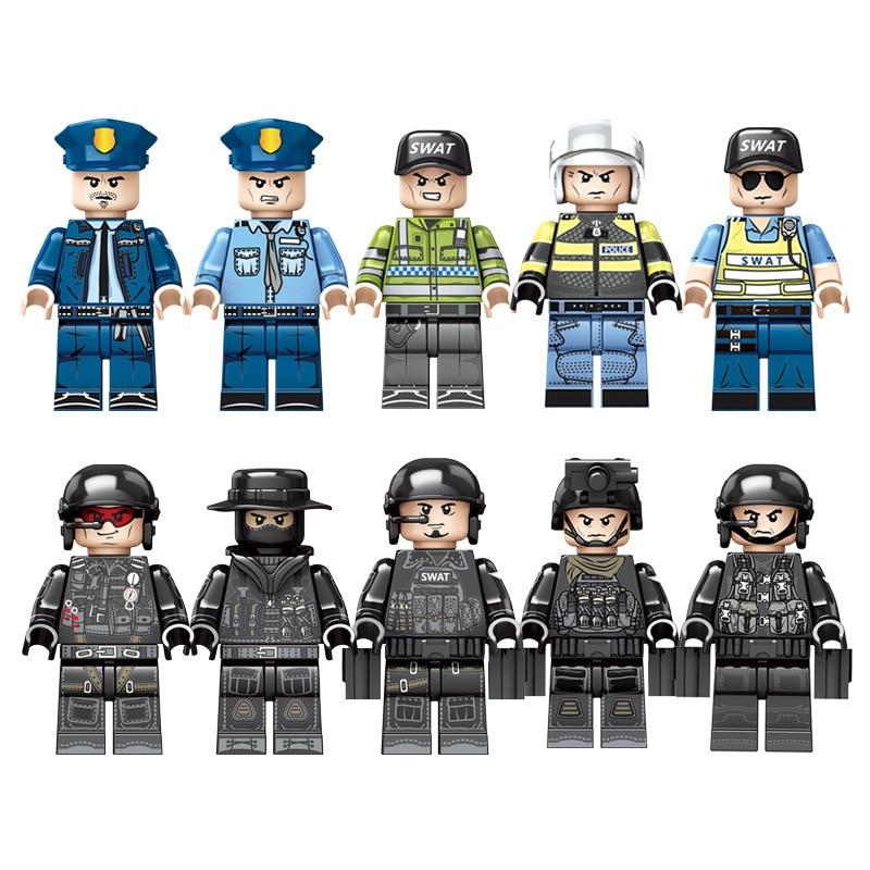 1164 個子供のビルディングブロックのおもちゃ互換 Legoingly 市ブラックホーク特殊部隊特殊警察携帯コマンドベース  グループ上の おもちゃ & ホビー からの ブロック の中 2