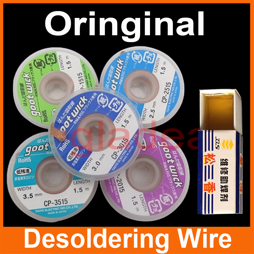 5x Desoldering Wire BGA Tools Goot Wick Soldering Accessory Braid For Iron Electronic PCB Repair 5pcs desoldering wire cp 1515 cp 2015 cp 2515 cp 3015 cp 3515 soldering accessory braid for iron electronic pcb repair
