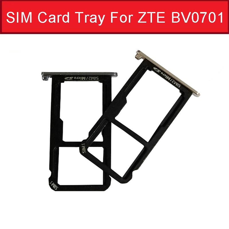 Micro SIM Card Slot Holder For ZTE Xiaoxian 4 BV0701 SD Memory Card Tray Reader Socket    Sim Card Adapter Replacement Repair