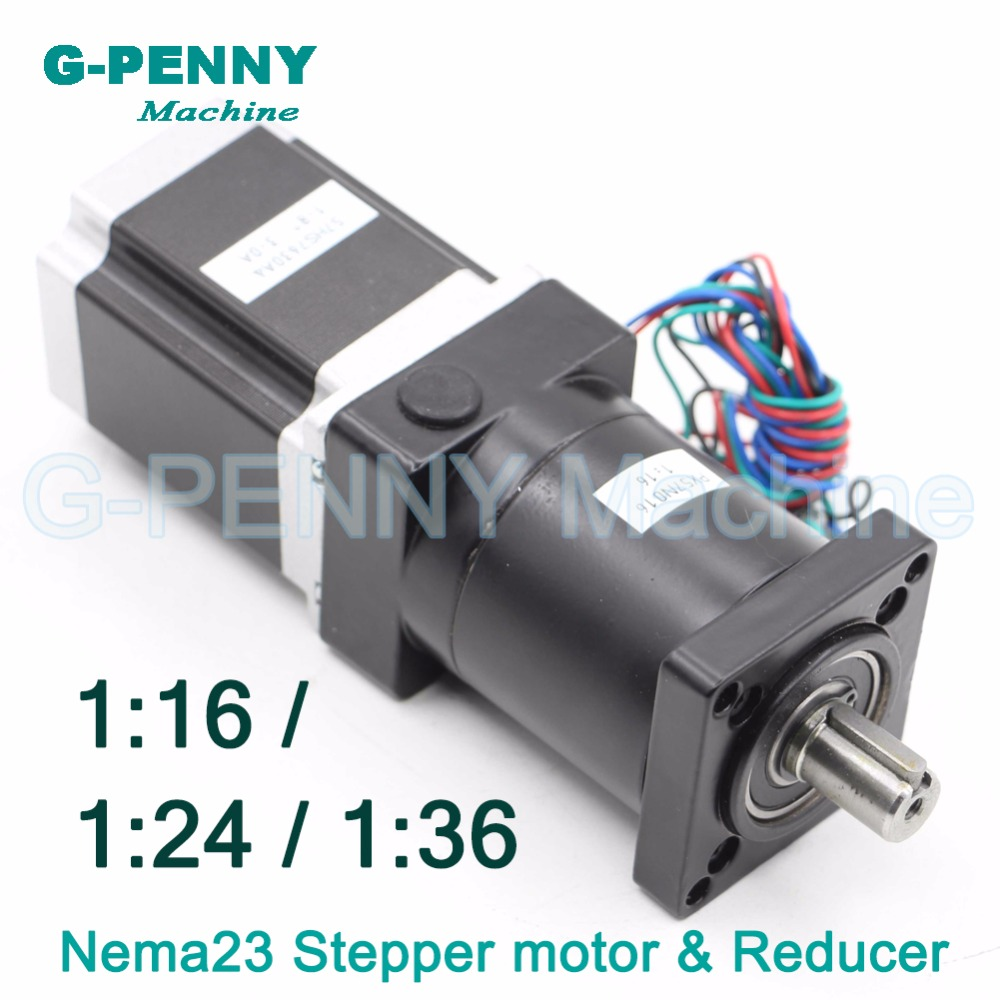 CNC Reducer NEMA23 Stepper motor 57X76mm with Planetary Reduction Ratio 36:1 / 24:1 / 16:1 planet gearbox 57 motor speed reducer nema23 planetary reducer stepper motor ratio1 50 4 2a 3nm 429oz in l 112mm marking machine