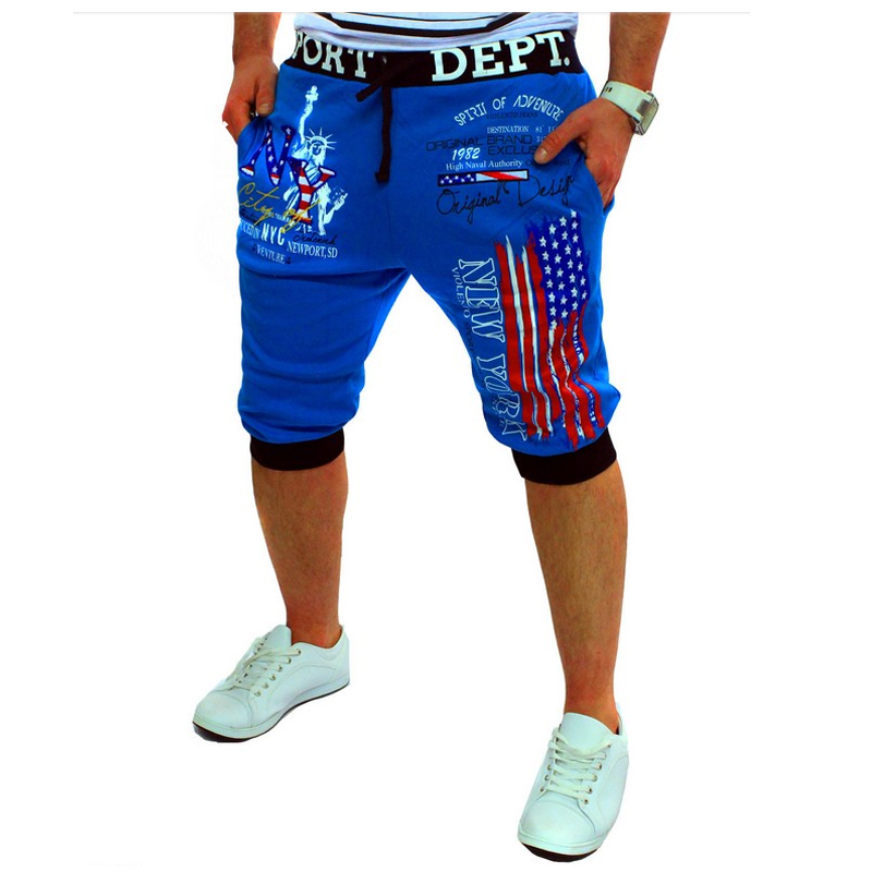 Mens Tights Hawaiian Shorts 2018 Print Design Flag Printing Bermuda Short Men Homme Shorts XXL DJDSAA