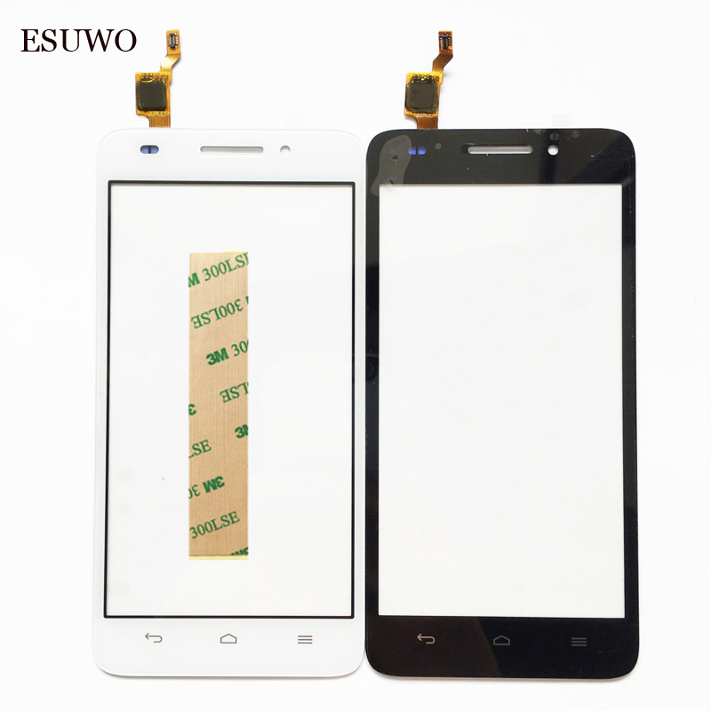 ESUWO Tactile Panneau Avant En Verre Pour Huawei Ascend G620s Écran Tactile Digitizer Écran Tactile de Remplacement Pièces De Rechange + 3 M Autocollant