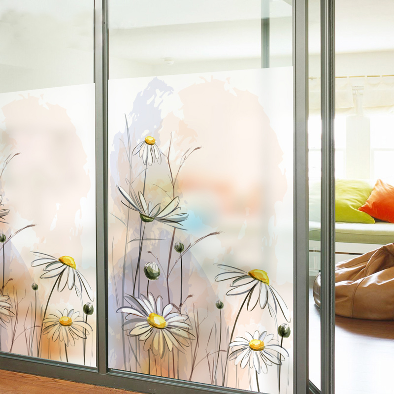 Promo Free Size Custom Made Stained Glass Window Film Sliding Door