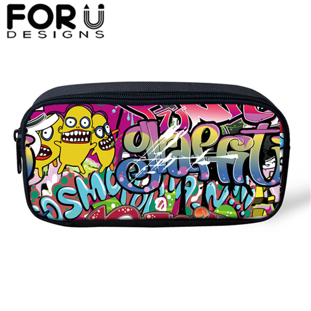 FORUDESIGNS Cosmetic-Cases Pencil-Bags School-Supplies Girls Fashion 3D Box Boys Children