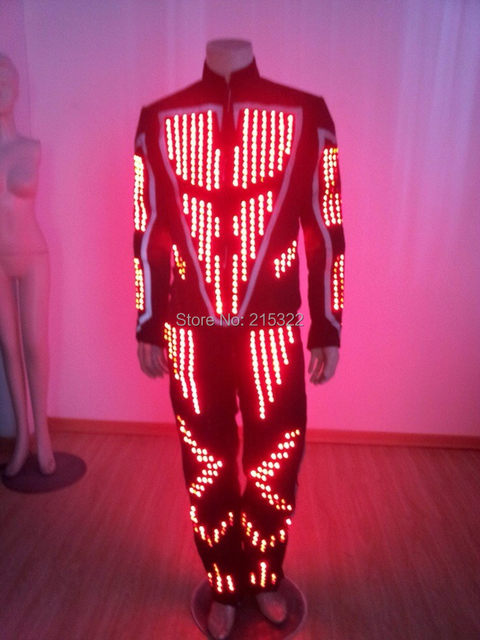 Free shipping mens light up LED tron costume / led light costume performance & Online Shop Free shipping mens light up LED tron costume / led light ...