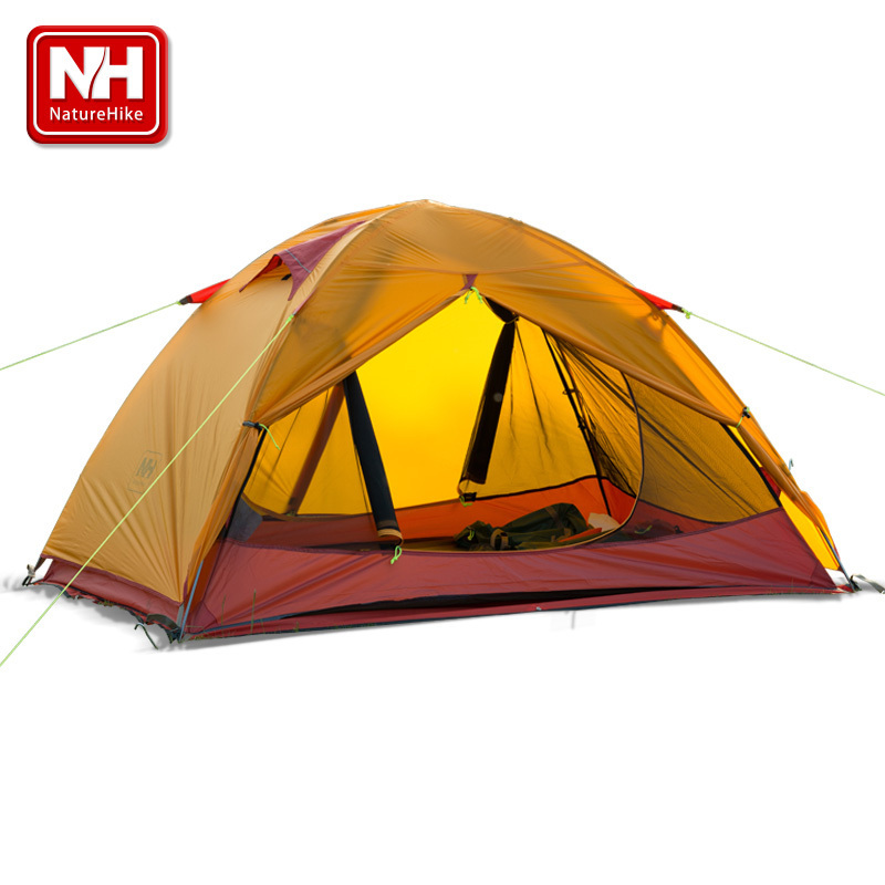Naturehike-NH ultra-small lightweight hiking tents outdoor camping tent fabric 20D silicone anti-big raining aluminum light tent
