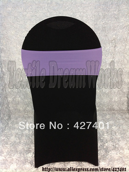 Hot Sale Purple Spandex Bands / Lycra Band / Expand Bands /spandex chair sash/Chair cover sash For Wedding & Banquet