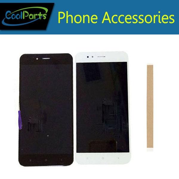 1 pz/lotto 5.5 pollice Per Xiao mi mi 5X A1 XIAO MI Mi 5x mi A1 display lcd + touch screen Digitizer Assembly Colore Bianco Nero Con Nastro