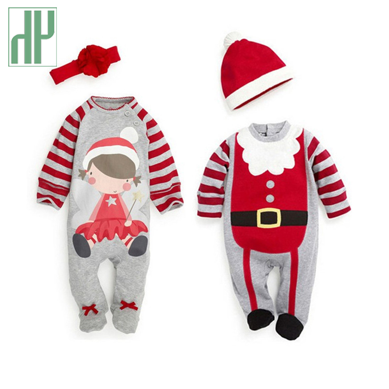 Christmas Baby girls clothes newborn pajamas baby boy winter snowsuit warm christmas romper jumpsuit santa claus baby costume christmas gift 2016 hot baby jumpsuit santa claus clothes kids overalls newborn boys girls romper children costume