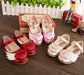 Female child small leather love 2015 spring small wings female child princess shoes Flats Loafers Moccasins fashion single shoes