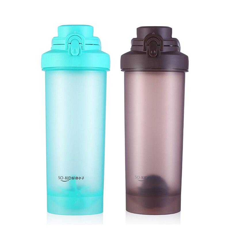 700 мл спортивные питьевой Пластик мои бутылки воды белка шейкер герметичные Портативный бутылки для воды pp с рукояткой BPA бесплатно ...