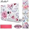 Redlai Colorful Floral Plastic Print Hard Case Cover For Macbook Pro Retina 13 12 15 Air
