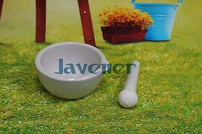 254mm Porcelain Mortar and Pestle Mixing Grinding Bowl Set White Lab Kit Tools delicate blue and white jingdezhen porcelain bowl supply 10 sets of good luck word blessing bowl handmade bowl 3320