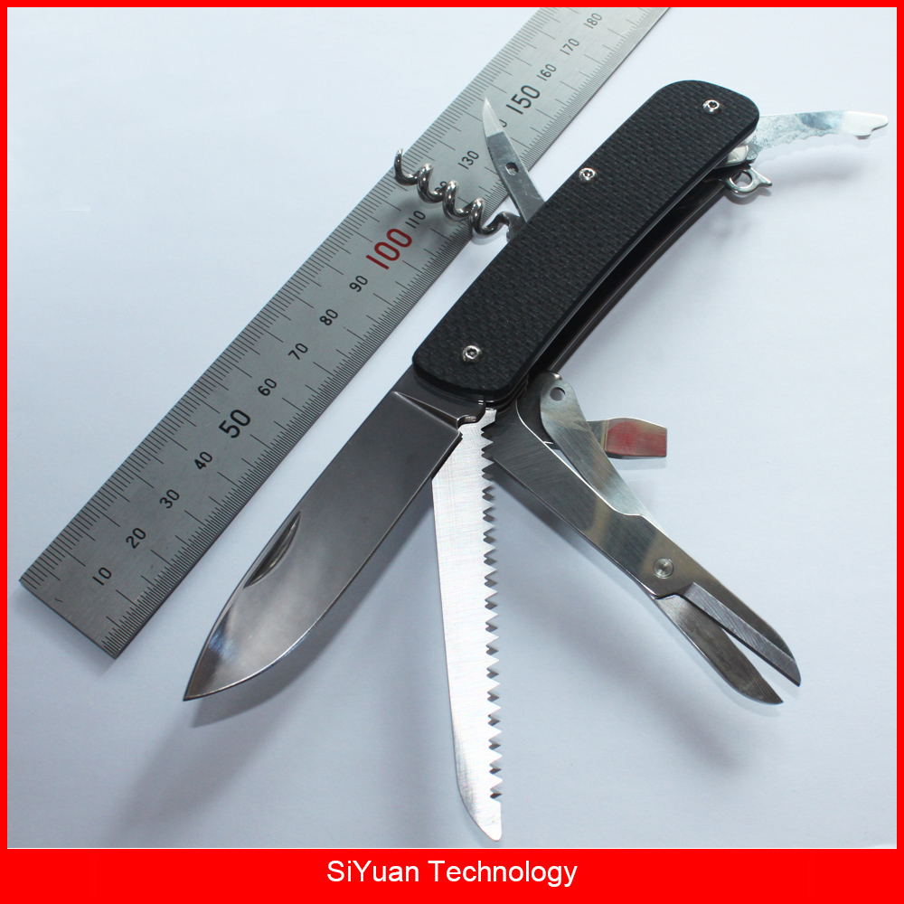 Mack Walker WA742 Pocket Folding Knife with Scissors Belt Cutter ...