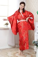 2015 Vogue Dress Red Japanese Traditional Women S Silk Kimono Charming Prom Gown Dress Dragon Phenix