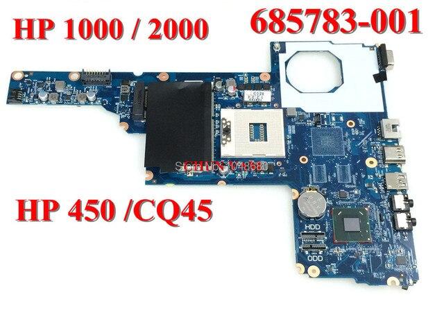 Оптовая материнская плата ноутбука 685783-001 для HP 450 1000 2000 Compaq Presario cq45 HM70 системной плате 100% испытанное Гарантированность 90 Дней