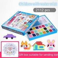 1480/2112 ensemble de L'eau Aqua perles collant perler pegboard fusible jigsaw puzzle jouets éducatifs bricolage Puzzle enfants Enfants Cadeau d'anniversaire