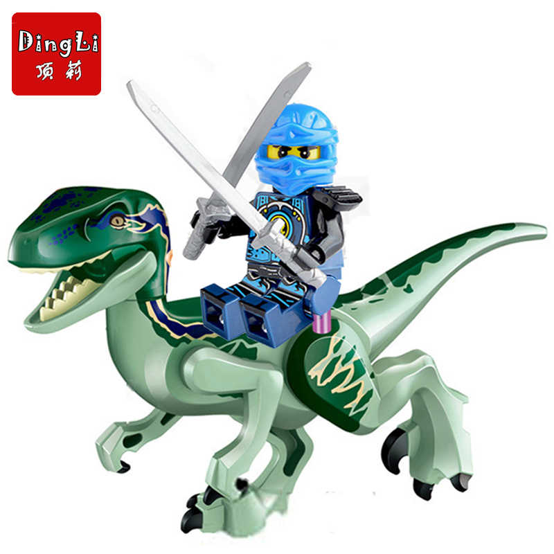 2018 Jurassic World Dinosaurs Ninjago Figures Bricks Building Puzzle Blocks Original Dinosaur Toys For Children Gifts