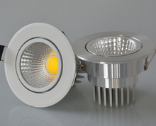 Free Shipping Dimmable 10W Warm /Cold White High quality Led Recessed Down light Shell /Silver Ceiling lights