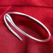 Doteffil pulseira de prata esterlina 925, bracelete suave com flechas para mulheres, joias para casamento e noivado