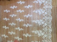 5 yard/lot JRB-82159 embroidered Net Lace French tulle mesh Lace Fabric Hot selling For wedding dress in white color