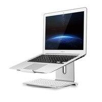 Алюминиевая Подставка для ноутбука с 360 вращением, держатель для ноутбука, держатель для охлаждения, поддержка 10-17 дюймов MacBook Pro Air
