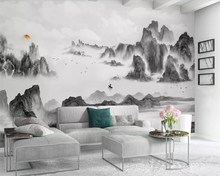 Beibehang Modern minimalist mural wallpaper abstract artistic ink landscape architecture TV background wall murals 3d