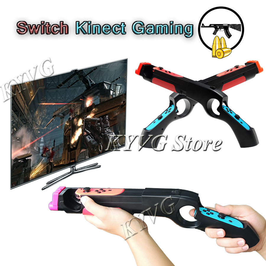 Nintend Switch Gaming Somatosensory Shooting Gun Stand NS Kinect Sensor  Game Gun Handle Grips for Nintendo Switch Joy-con